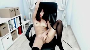 Bella Park loves to masturbate in a chair